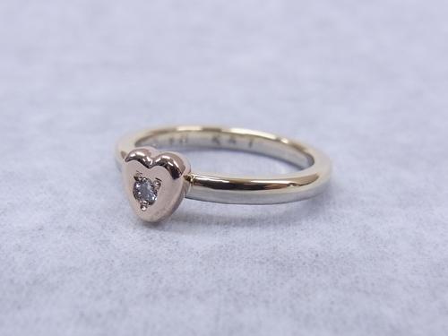 こだわり体験教室 カラーゴールド婚約指輪