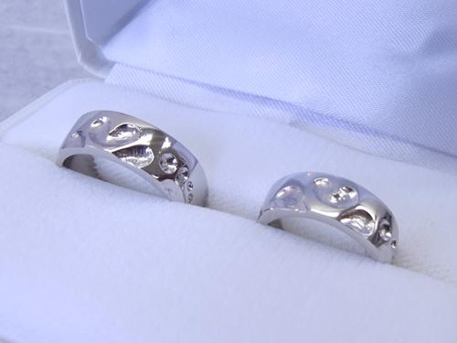 結婚指輪 手作り教室 作品