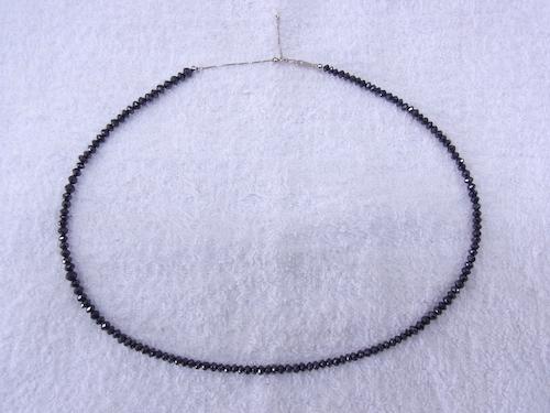 ブラックダイヤモンドネックレス 180508