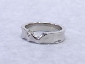 婚約指輪の手作り教室作品