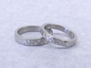 結婚指輪の手作り教室作品