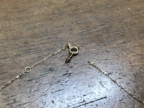 ネックレス金具取り付け191101