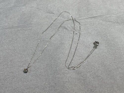 ホワイトゴールド ネックレス修理 210410
